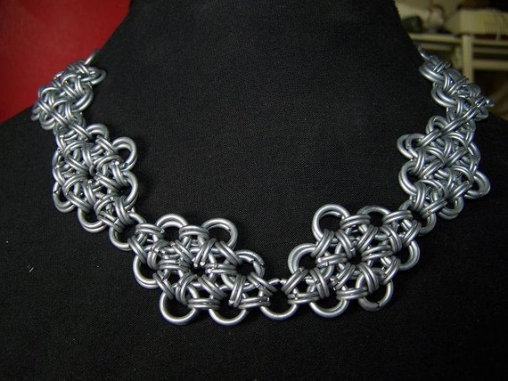 Japanese Diamonds Chainmaille Necklace
