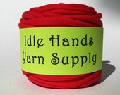 Red Tarn Recycled T Shirt Yarn - 21.25 Yards 4 WPI