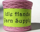Recycled or Upcycled Cotton Yarn Pink - 200 Yard Ball