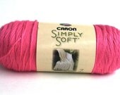 Detash Hot Pink Simply Soft Acrylic Yarn 1 Skein