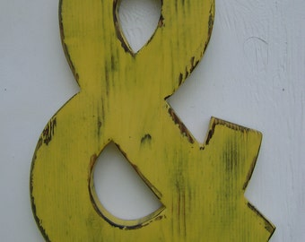 Photo prop -ampersand- and sign- wedding decor wall or shelf letters