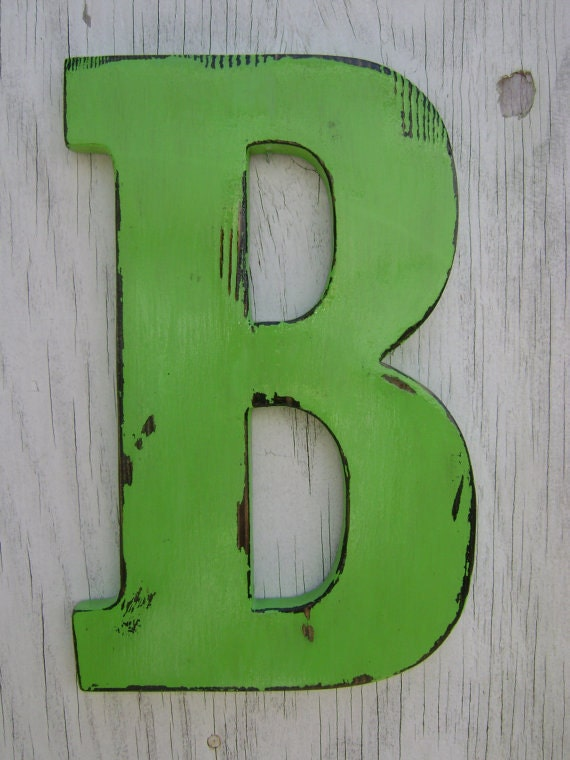 home decoration wooden letters initials last name signs