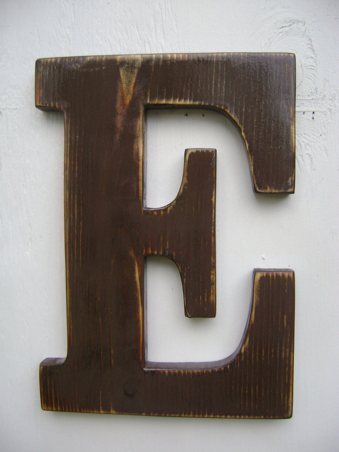 Wall sign rustic wooden letters decor 12 tall 3 4 - Wood letter wall decor ...
