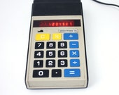 Vintage office calculator from Russian Soviet Union era Elektronika