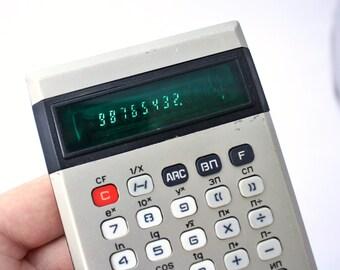 Vintage office calculator from Russian Soviet Union era MK 36 Elektronika