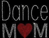 Dance Mom Rhinestone crystal iron on transfer DIY, Hot Fix