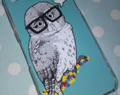 iPhone 4/ 4S Owl cover, clear case