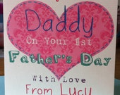 Personalised 1st Fathers Day Card - Daddy
