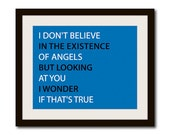 """Song Lyric Art Print - Nick Cave Song - Wall Decor Quote - 8"""" X 10"""""""