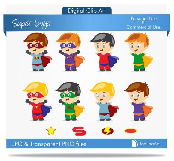 superhero clipart...super boys clip art...Super Boys Digital Clipart...BUY 1 GET 1 FREE