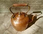Antique Italian Copper Tea Pot