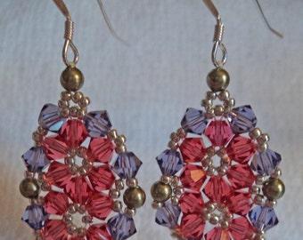 Swarovski Crystal Medallion Chic Dangle Earrings