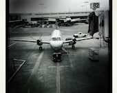 Turbo Prop, Embraer 120 Los Angeles Airport, Aviation, Airplane Photograph 10x10, Propeller Aircraft, United Airlines, Airport Terminal Gate