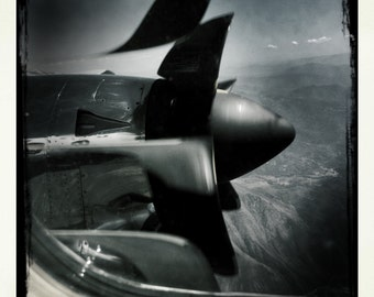 Turbo Prop, Embraer 120, Aviation, Aircraft Photograph 10x10, Propeller Airplane Window, Vintage Airplane, Airline, Abstract