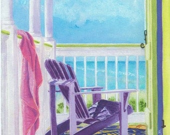 My Favorite Retreat: Adirondack Chair on Porch
