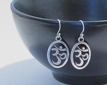 Om Earrings, Yoga Earrings, Yoga Jewelry, Om Jewelry, Yoga Gift, Spiritual Jewelry, Hindu Jewelry