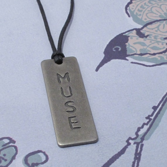Muse Pendant Necklace, Writers Gift