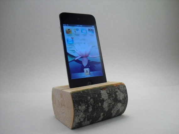 itouch Stand, wooden, alder handcrafted