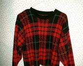 Vintage/90's/Plaid/Sweater/Hipster/Grunge