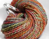 Handspun Yarn - Sunset in the Keys - Punta Wool, Heavy Worsted Weight, 129 yards.