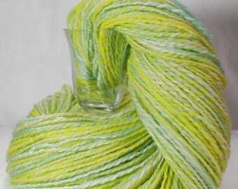 SALE - Handspun Yarn - When Life Gives You Lemons - Punta Wool, DK weight, 609 yards