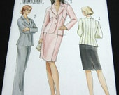Vogue Womens Suit Pattern V8045 Jacket Skirt and Pants Size 8 10 12