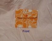 Coin Wallet - Orange Floral Sml