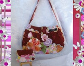 Designer Handbag with matching Coin Purse in Maroon n Floral