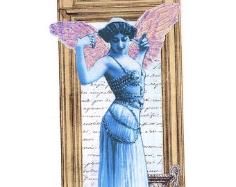 Mata Hari Card | Caroline O'Tera | Blank Greeting Card | Vintage Style | Vintage Card | Blank Card