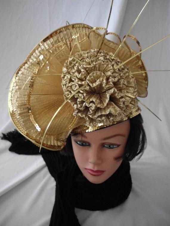 MR. H Designer Hat Gold Lame'