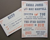 THESE BOOTS wedding invitation suite - printable digital file
