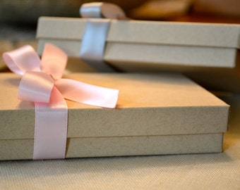 Kraft Gift Box {optional ribbon tie}