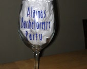Alaina's Bachelorette Party Glasses