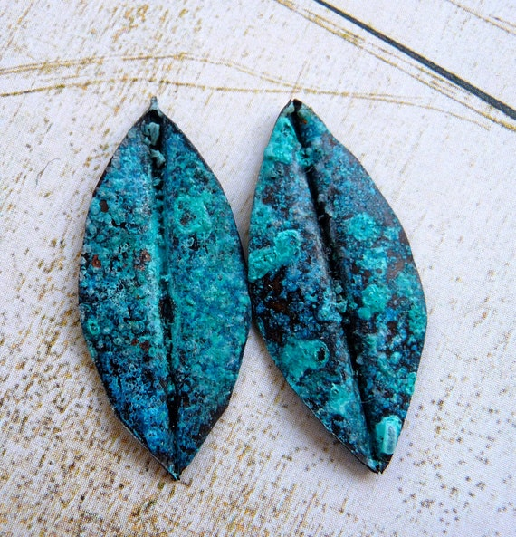 Copper Patina Leaves