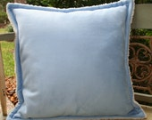 Baby Blue Suede 16 inch Dreamy Pillow