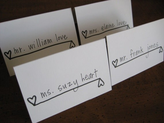 Escort Card Calligraphy - Have A Heart