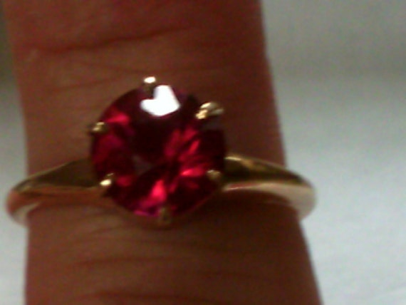 Victorian Era Ruby Ring in 12kt gold