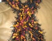 Knit Multicolor Fancy Fur Scarf