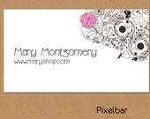 Doodle Floral Illustration Business Card Design No. 36