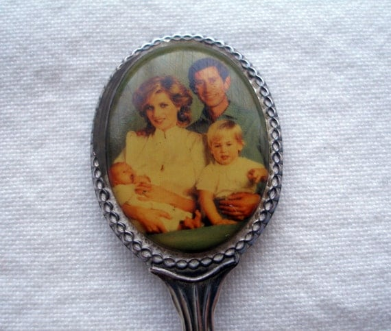 Princess Diana Royal Family Collectible Silver Plated Spoon