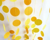 Sunny Citrus Yellow Garland, Two-Tone Yellow, 11'