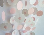 Baby Girl Garland, Pink and White, 10'