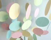 Baby Garland, Pastel Pink, Blue, Green and Yellow, Boy or Girl, Baby Shower, Nursery, EASTER, 10'