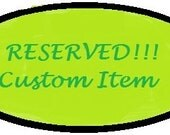 RESERVED listing for Stacie