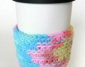 Crocheted Multicolor Coffee Cup Cozy