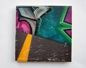 "Graffiti Park - Limited Edition Fine Art Photo Transfer on 14""x14"" Wood Panel by Patrick Lajoie"