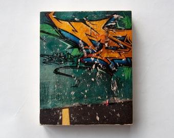 "Pop Graffiti - Limited Edition Fine Art Photo Transfer on 8""x10"" Wood Panel by Patrick Lajoie"
