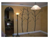 3 seven foot tree vinyl decals wall art for home decor  00305