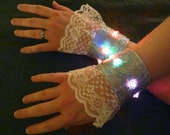 Color-Changing Lighted Wrist Cuffs, One Pair