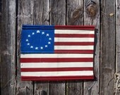 Hand-Painted Tin 13 Star American Flag
